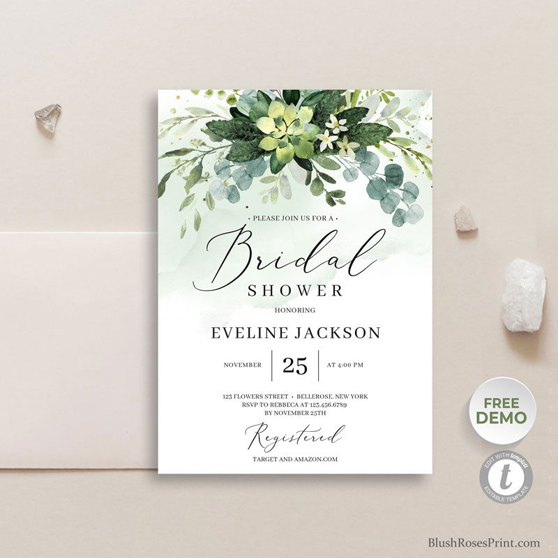 green-succulent-flowers-bridal-shower-invitation-template