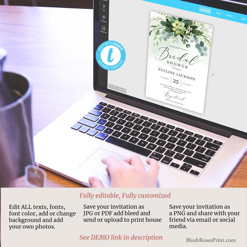 green-succulent-flowers-bridal-shower-templett-invitation