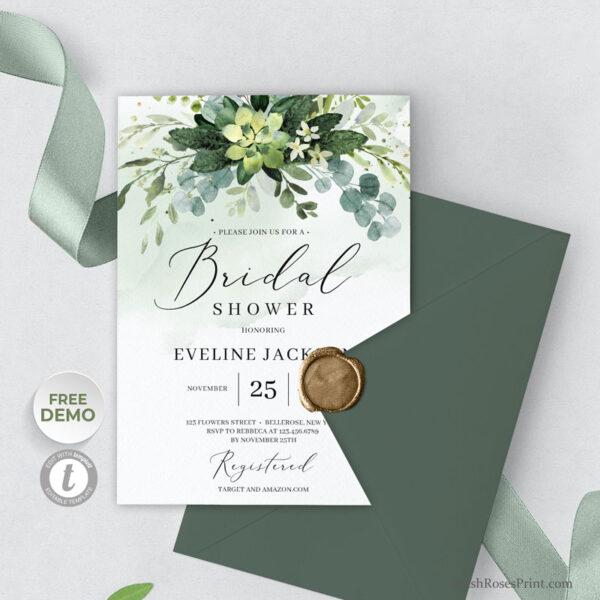 greenery-succulent-bridal-shower-invitation-printable