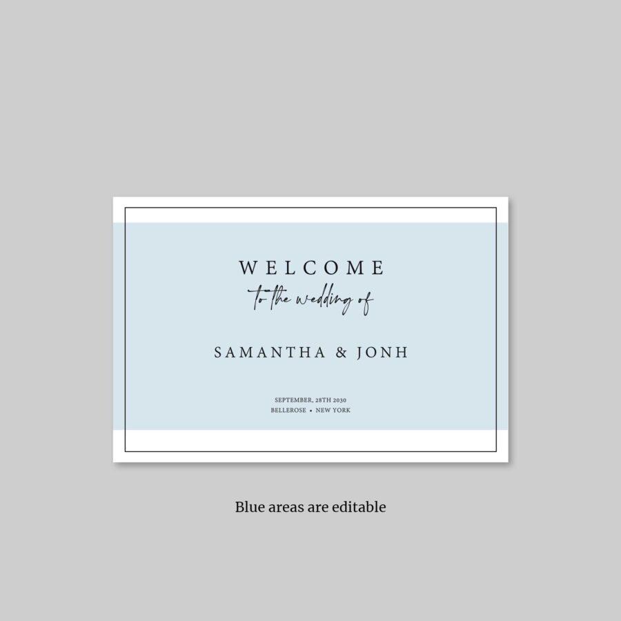 digital wedding welcome sign printable