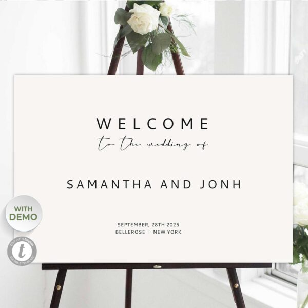 fully editable welcome sig poster template