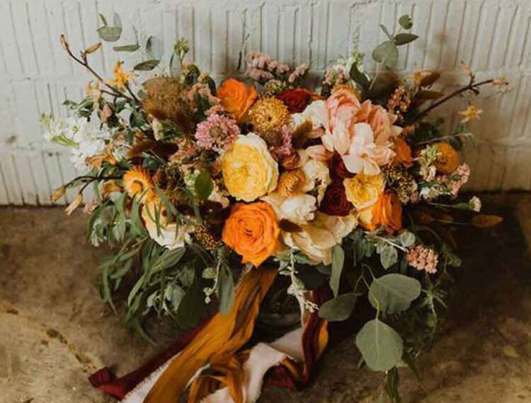 copper and rust wedding color scheme