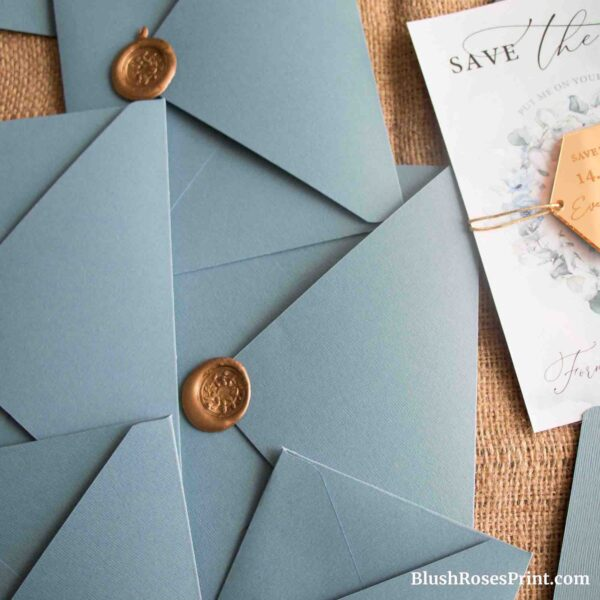 Dusty Blue Envelopes Handmade A1 A2 A6 A7 A9 A10 Lux Trendy Color