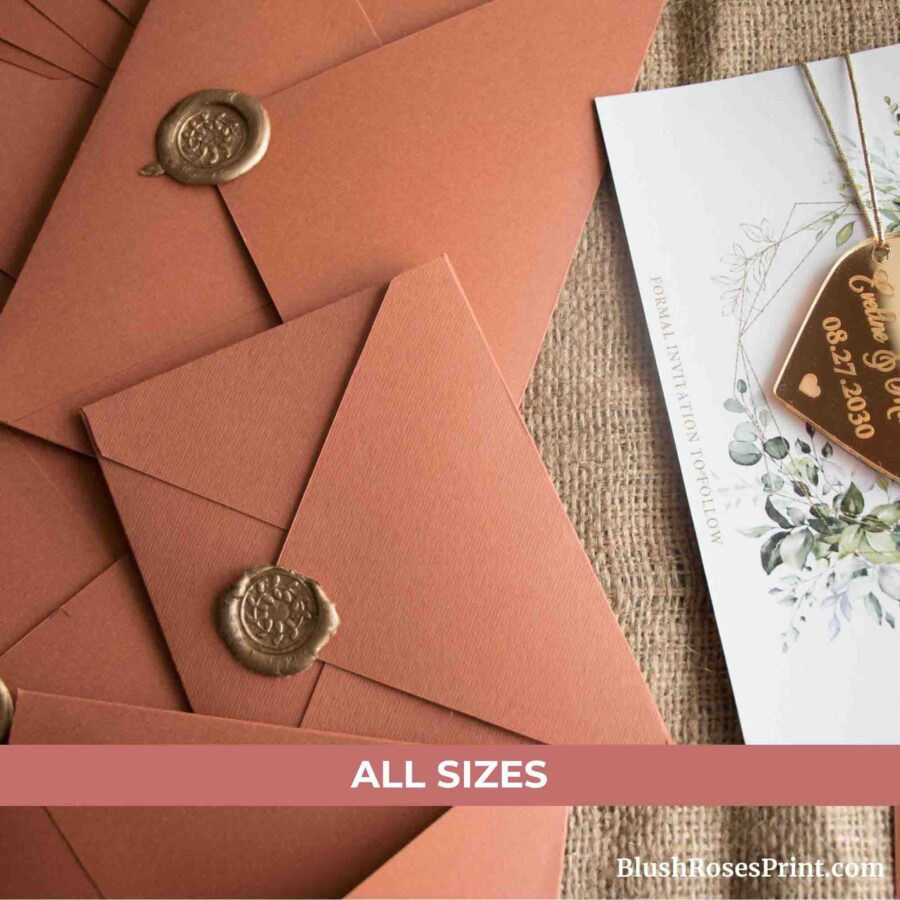 Cooper Color Luxury Envelopes A1 A2 A6 A7 A9 A10 for Fall Autumn Event