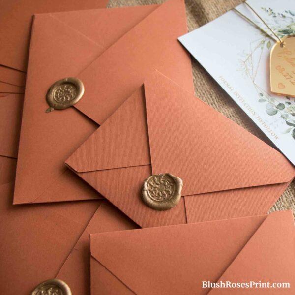 Copper Color Luxury Envelopes