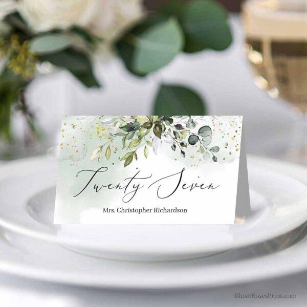 Printable Place Cards Bohemian Wedding Place Cards Template Place Card Name Cards Place Card Wedding Escort Cards Winter Boho BN100