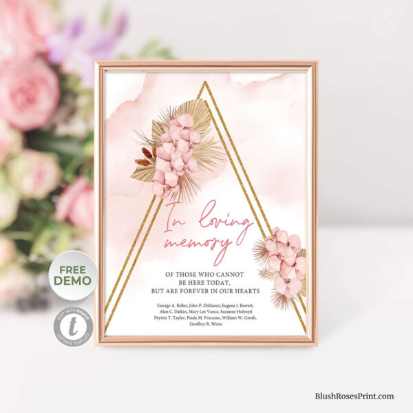 Dried-palm-in-loving-memory-sign-template