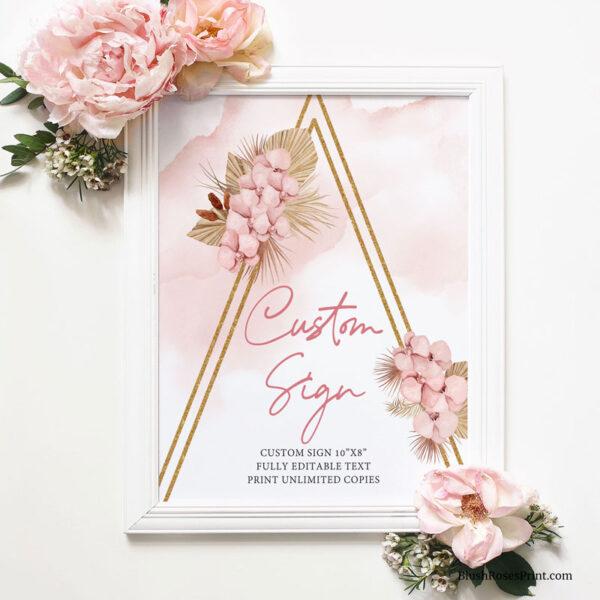 wedding custom sign template