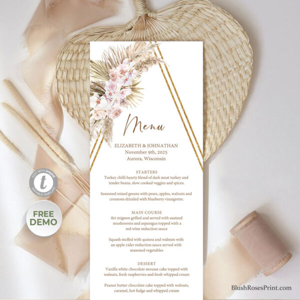 boho-desert-floral-dinner-menu-long-printable