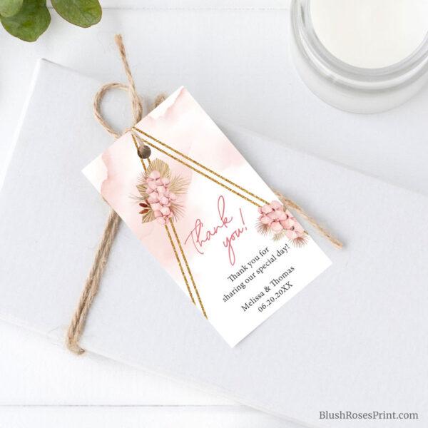 the best boho wedding favor tag