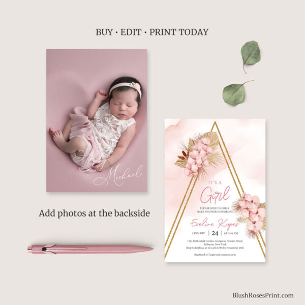 dried-palm-baby-shower-invitation-with-photo