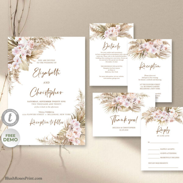 dried-palm-leaves-dried-pampas-grass-dusty-rose-blush-orchid-wedding-invitation