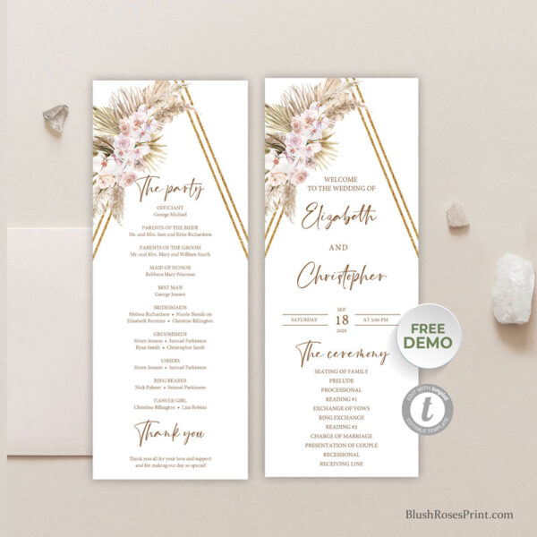 dried-palm-leaves-pampas-grass-blush-orchid-dusty-rose-gold-arch-program