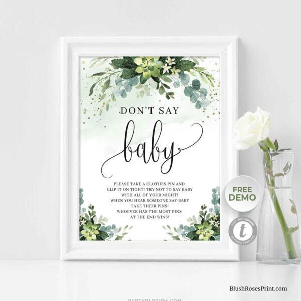 green-succulent-and-eucalyptus-greenery-baby-shower-game