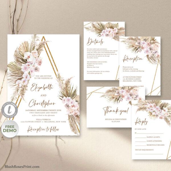 neutral-earthy-tones-colors-wedding-suite-template-printable