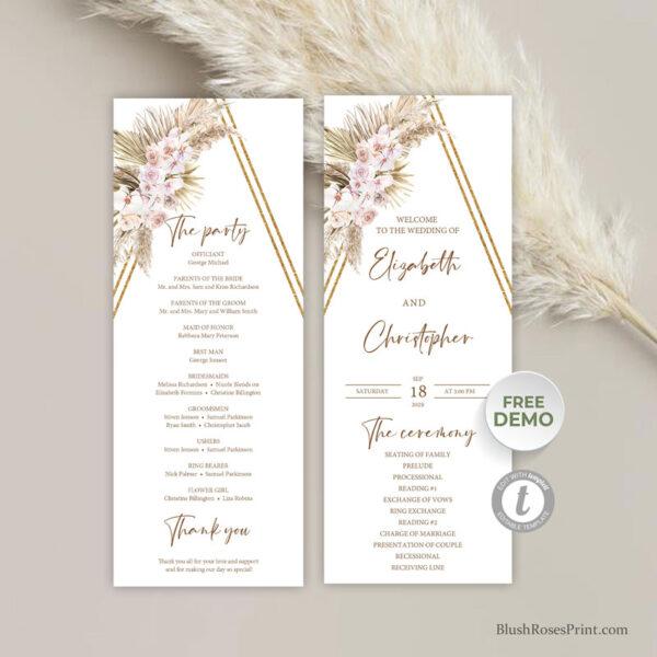 summer-tropical-beach-wedding-ceremony-program-template