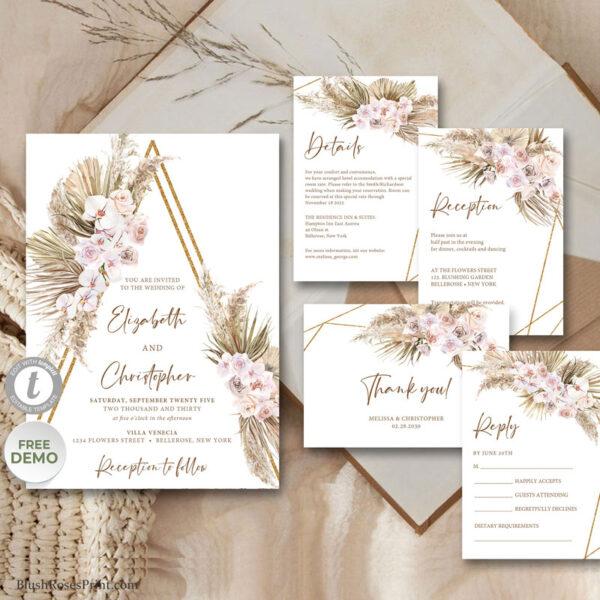 trendy-boho-tropical-wedding-invitation-template