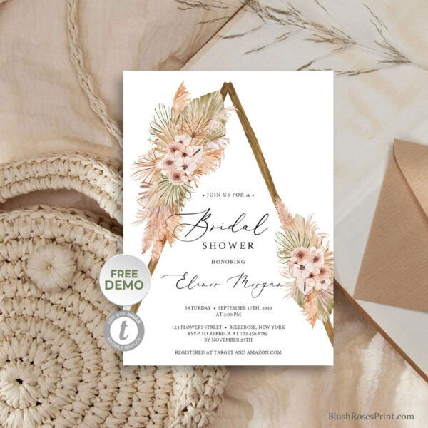 dried-palm-leqaves-pampas-grass-dusty-pink-orchid-blush-roses-bridal-shower-invite