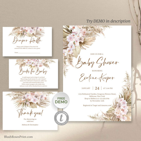 dried-palm-pampas-grass-blush-orchid-dusty-rose-baby-shower-invitation