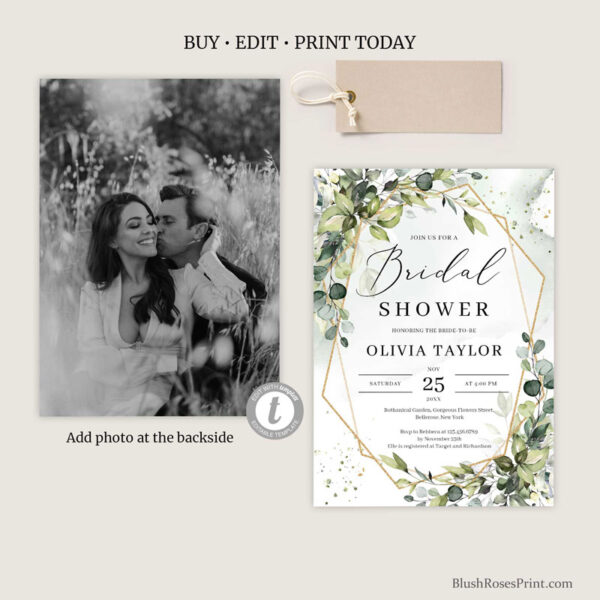 green-and-gold-bridal-shower-invite-with-photo