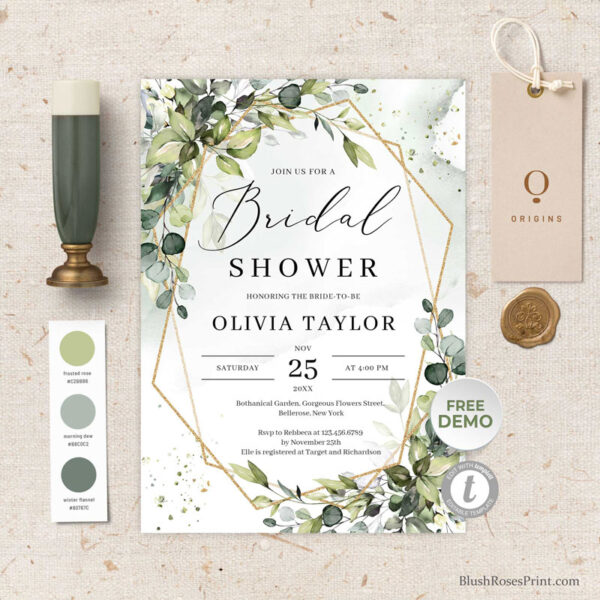 greenery-foliage-bridal-shower-invitation-template