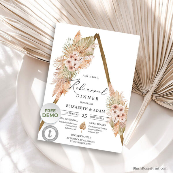pampas-grass-dried-palm-leaves-tropical-flowers-blush-orchid-rehearsal-dinner-invitation
