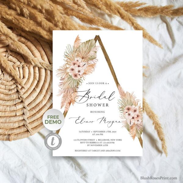 summer-tropical-flowers-boho-wooden-arch-bridal-shower-invitation