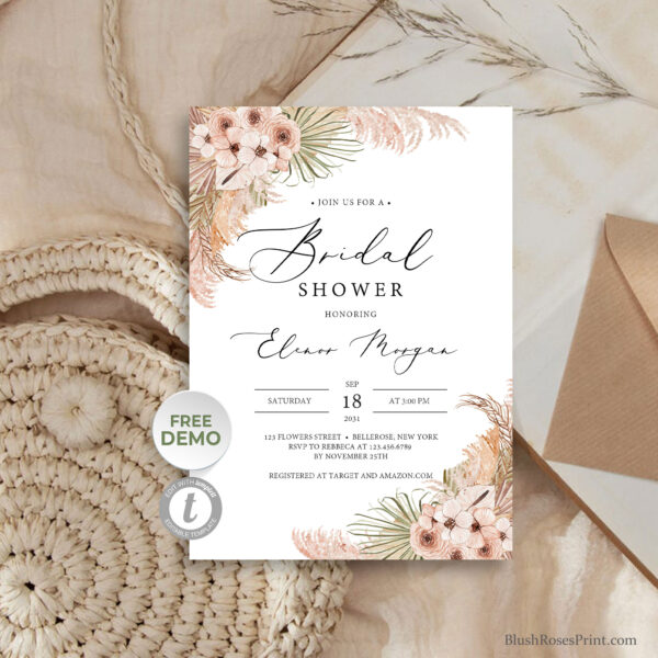 summer-tropical-flowers-dusty-pink-orchid-and-dusty-rose-bridal-shower-invitation-template
