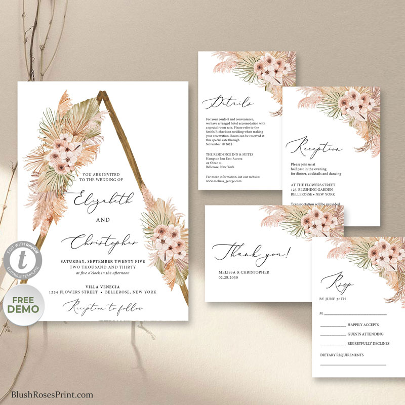 summer-tropical-rustic-wooden-arch-wedding-invite-printable