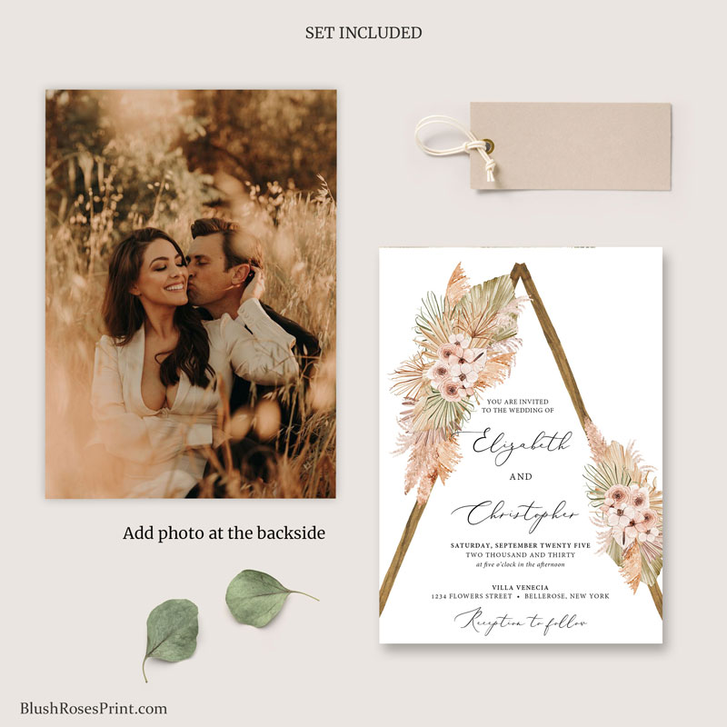 trendy-boho-rustic-wooden-arch-wedding-suite-template-editable