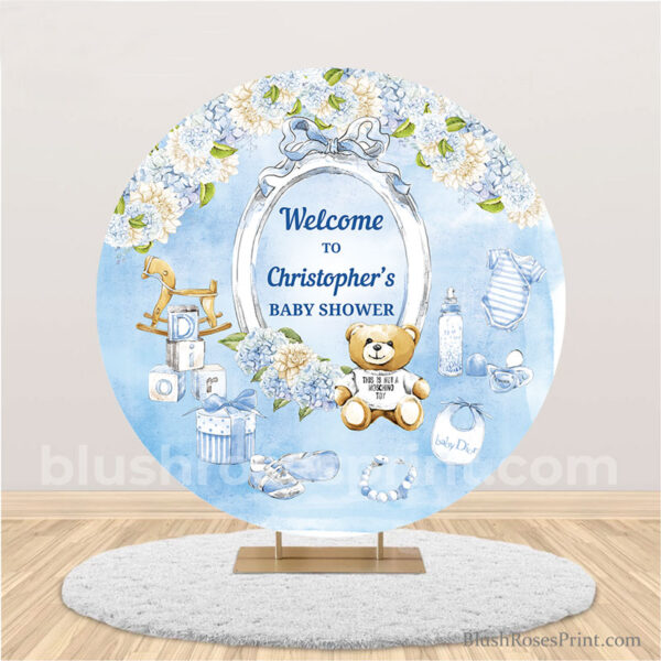 boy-baby-shower-backdrop-wuith-teddy-bear-and-dusty-blue-flowers-party-banner-template