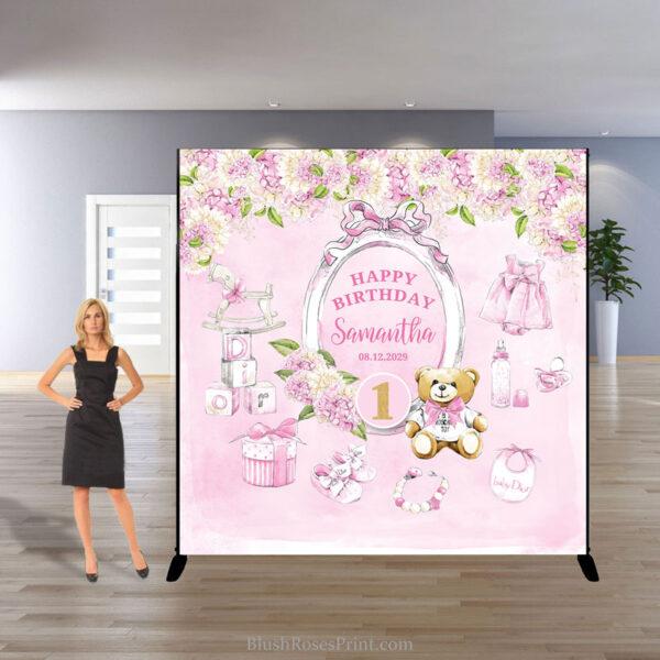 girl-birthday-backdrop-template-with-teddy-bear-and-blush-hydrangeas
