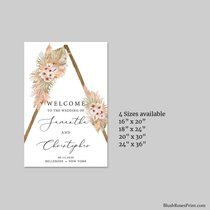 modern-trendy-editable-wedding-welcome-sign-dried-palm-leaves