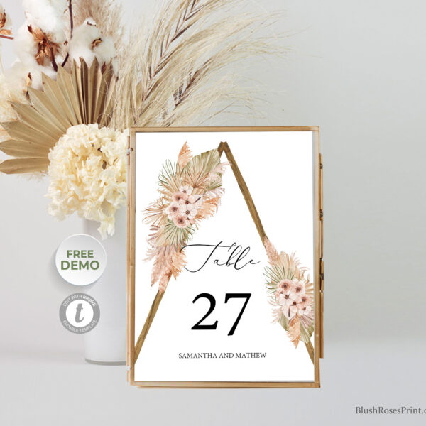 summer-tropical-dried-flowers-dusty-rose-table-number-printable