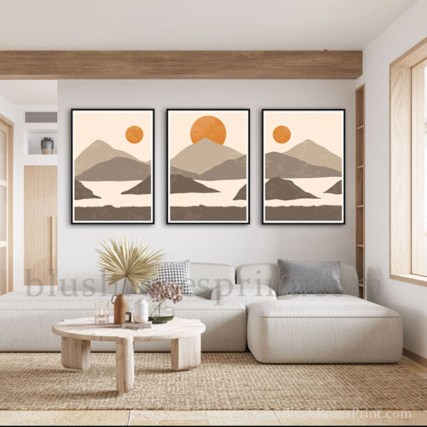 contemporary-wall-art-print-set-of-3-frame-pictures-in-nordic-style-and-earthy-tones