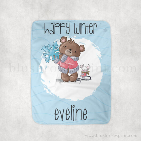 cute-teddy-bear-with-mouse-and-snowflake-winter-blanket-fleece-sherpa-1