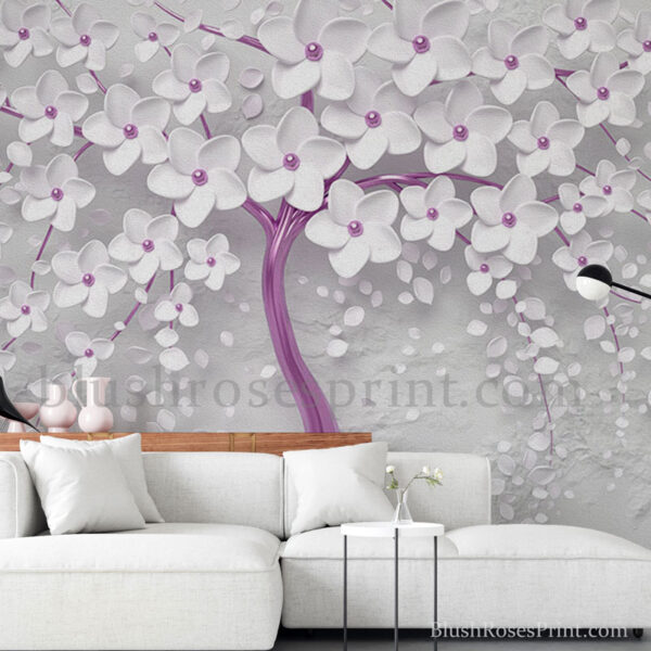 gorgeous-3d-wallpaper-with-white-tree-with-blooming-flowers