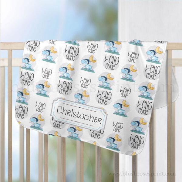 sleeping-dino-baby-boy-blanket-personalized