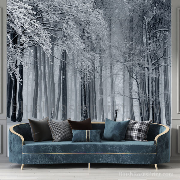 winter-scene-with-snow-forest-wallpaper-removable-sticker