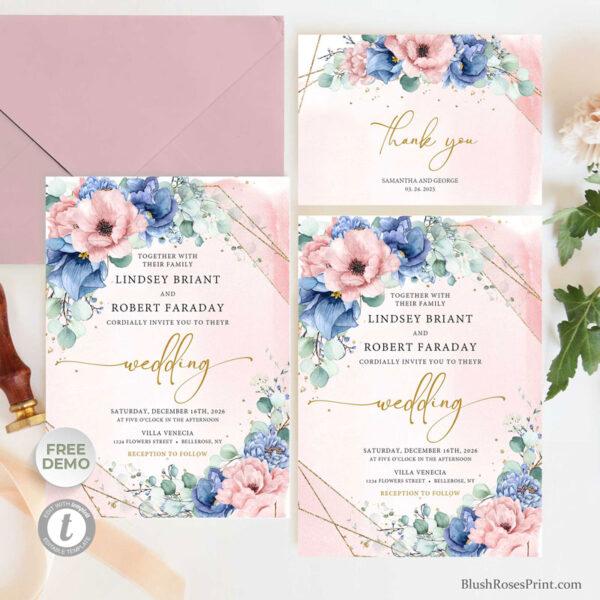 bohemian-roses-flowers-wedding-invitation-suite-template