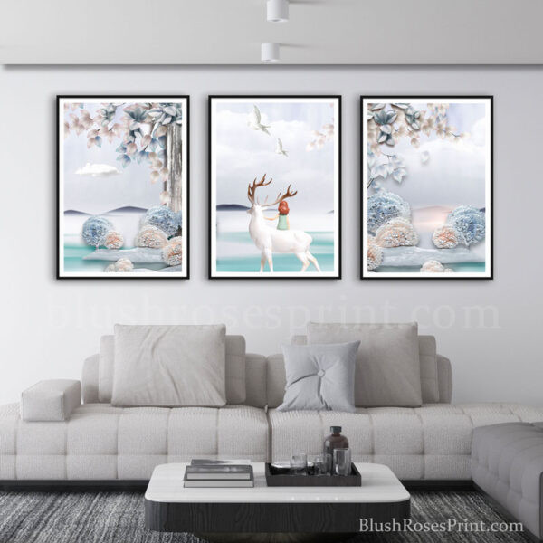 nordic-frame-art-bedroom-wll-art-set-in-dusty-pink-and-dusty-blue-color-scheme