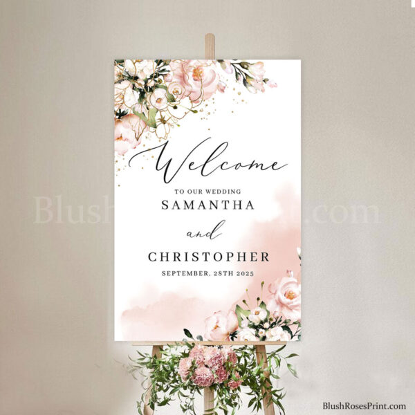 blooming-roses-flowers-pale-pink-roses-etsy-wedding-welcome-sign