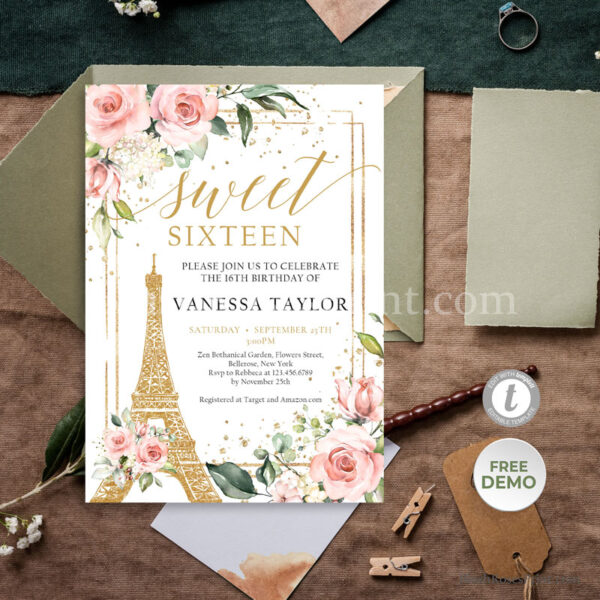 blush-and-gold-sweet-sixteen-invitation-template