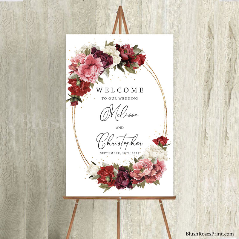 blush-burgundy-mauve-flowers-peonies-wedding-welcome-sign-template