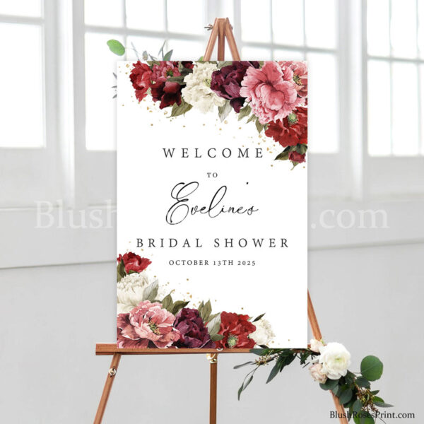 blush-burgundy-mauve-peonies-bridal-shower-welcome-sign