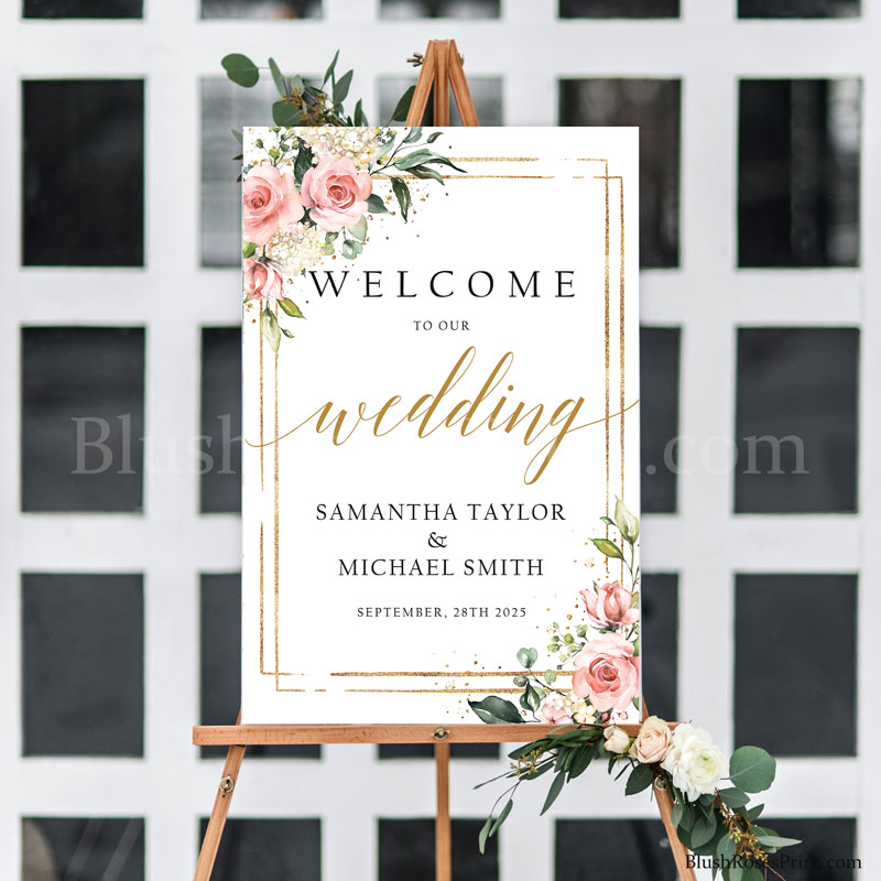 bohemian-floral-pink-and-gold-frame-wedding-welcome-porch-sign-printable
