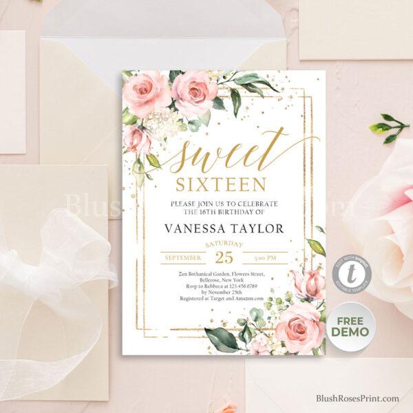 boho-blush-and-gold-sweet-sixteen-invitation-template