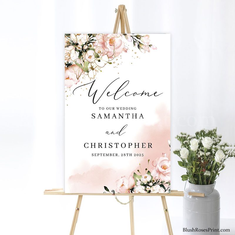 boho-blush-and-gold-wedding-welcome-sign-ideas