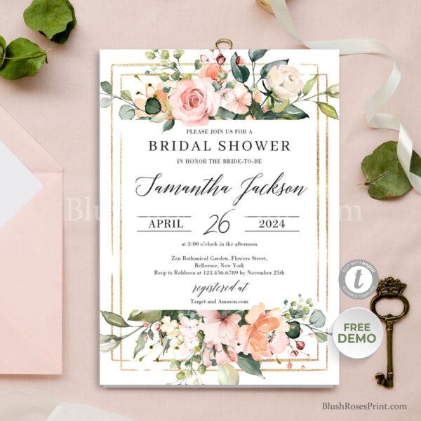 boho-rose-gold-floral-bridal-shower-invitation