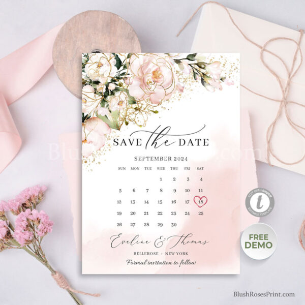 dusty-pink-roses-flowers-bohemian-save-the-date-card-printable